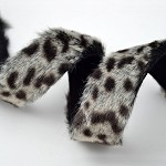 Leopard Faux Fur trim band with Micro suede back, YD-FF-65